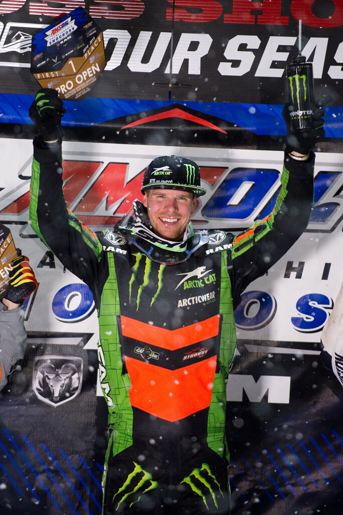 Tucker Hibbert Rides To Heroic 100th Pro National Snocross