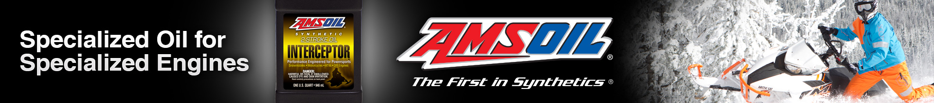 AMSOIL INTERCEPTOR™ oil is recommended for Polaris®, Arctic Cat® and Ski-Doo®.